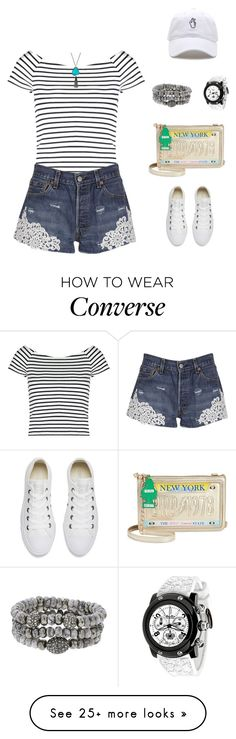 """Untitled #1826"" by bushphawan on Polyvore featuring Lipsy, Forte Couture, Converse, Glam Rock, Panacea, Betsey Johnson and Hipchik"
