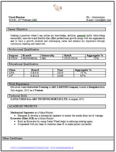 [ Tech Mehanical Fresher Resume Sample ] - cover letter for mechanical engineer fresher resume template technical cover letter for mechanical engineer sample resume for freshers b pharm resume samples for sample resume for freshers b pharm resu Sample Resume Format, Student Resume Template, Best Resume Template, Resume Design Template, Career Objectives For Resume, Resume Format For Freshers, Free Resume Examples, Resume Objective Examples, Resume Ideas