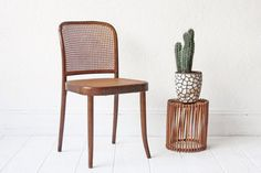 The Prague chair / chair no.811. $275 Designed by Josef Hoffman in 1925, produced by Thonet in Czechoslovakia and imported by Stendig in the 1960s.