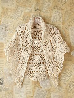 Vintage crochet poncho from Free People. ideas