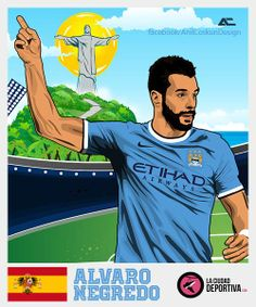 #Negredo #StickersProject V27 » #Football #Panini #Estampas #Soccer #Brasil2014 http://www.akyanyme.com/index.php/es/portafolio/fanart/brazil-2014/stickers-brazil-2014/295-sticker-brazil-2014-v27