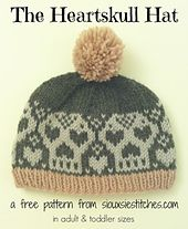 Ravelry: The Heartskull Hat pattern by Siouxsie Stitches