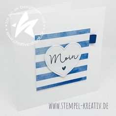 Nautical Cards, Distress Ink, New Love, Clear Stamps, Stampin Up Cards, Creative Depot, Instagram, Crafting, Videos