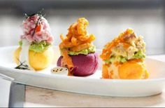 Colorful Peruvian Appetizers!
