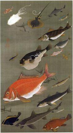 Japanese Art Print: Fish