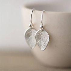 Sterling Silver Leaf Earrings Handmade Minimalist Dainty Earrings Handmade Modern Jewelry for Women Gift for Her Autumn Jewelry Dainty Earrings, Leaf Earrings, Earrings Handmade, Handmade Jewelry, Silver Earrings, Indian Earrings, Silver Charms, Etsy Handmade, Silver Bracelets
