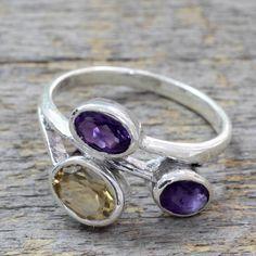 Novica Sterling Silver 'Mystical Alliance' Citrine Ring