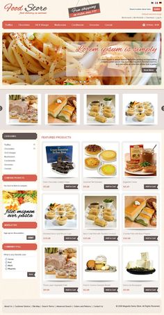 Food Magento Template is specially design for food items and restaurants stores. Food Magento Template looking good with it's colors combination. All sub pages are customized. It is very nice with its clean and professional look.
