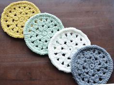 Crochet coasters pattern... http://www.ravelry.com/patterns/library/dahlia-crocheted-coasters