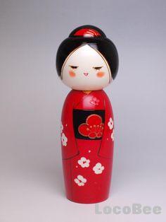 Kokeshi Doll Kimono Design by Toa Uraraka