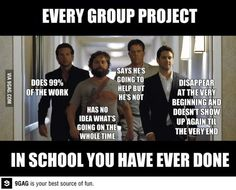 Why I hated group projects in a school...I always did all the work.... Or I was just to much of a control freak to let it rest in someone else's hands.