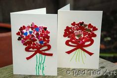 Recycle your Christmas Cards into Valentine Cards - either yourself or with your children!