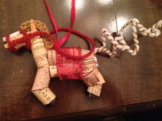 Horse ornament made from old wine corks