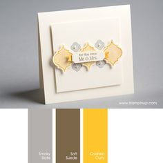 Smoky Slate, Soft Suede, Crushed Curry #stampinupcolorcombos