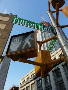 Fulton Mall em Brooklyn, NY