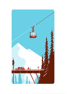 Paper toy (cable car)by Tom Haugomat on Behance