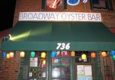 Broadway Oyster Bar. favorite place to eat in st. louis