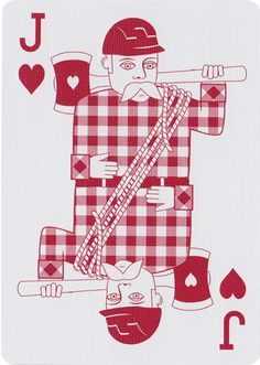 The Jack of Hearts from Bicycle® Lumberjack Playing Cards