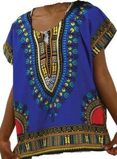 African Boys Dashiki Shirt Kids Mexican Poncho Top Hippie Girls Blouse Blue S #Handmade #Hawaiian #Everyday