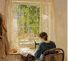 Seamstresses in Fine Art is part of Seamstresses In Fine Art Lori Kennedy Quilts - Sewing, The Artist's Wife Hans Heysen Germanborn, Australian Read more HERE Related Australian Painters, Australian Artists, George Grosz, Images Vintage, Vintage Posters, Sewing Art, Paintings I Love, Paper Piecing, Female Art