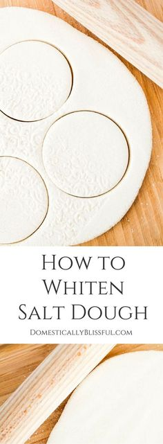 A simple tutorial for creating beautiful white salt dough for christmas ornaments & gift tags!