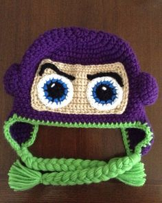 No pattern.                                           Buzz lightyear inspired crochet hat