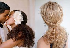 Já fizemos um post com ideias de penteados para noivas de cabelos cacheados (aqui) e tem um editorial que adoro para noivas boho cacheadas (aqui). Mas como