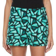 Juniors' Candie's® Print High-Waist Shorts, Teens, Size: 11, Green Oth