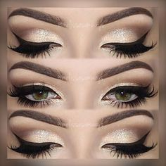 "MaryHadaLittleGlam on Instagram  "" Repost  melissasamways♡ ・・・♡ 💋♡ 💋♡ Hey  Loves! Champagne Smokey Eye Makeup 😍 TUTORIAL 🎥 Link in my Bio! e233e614981"