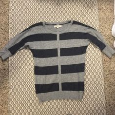 Loft striped sweater Striped loft sweater. Sleeves go above elbow. Very soft. ✖️No trades✖️ LOFT Sweaters Crew & Scoop Necks