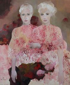 Françoise de Felice descendant of an Italian father and French mother, was born in Paris where she lived until she was 20 years of. Figure Painting, Painting & Drawing, L'art Du Portrait, Portraits, Art Du Monde, Figurative Kunst, Kunst Online, Face Art, Contemporary Paintings