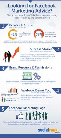 Facebook Marketing Tips #socialmedia #infographic #socialrankmedia