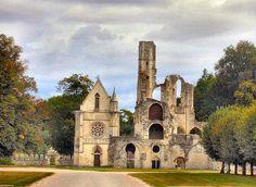 Ruins of Abbaye de Châalis, Picardie, France