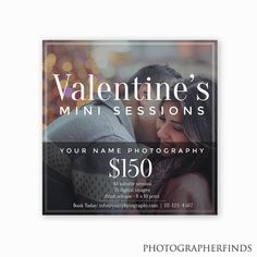 Couples Mini Session Template for Valentine's Day