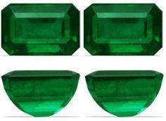 5.97 Carat Emerald Cut Loose Emerald Gemstone Pair