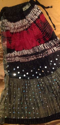 Generous 25 Yard Black Polka Jaipur Indian Belly Dance Skirt Cotton Auction Sariskirts Clothing, Shoes & Accessories Women's Clothing
