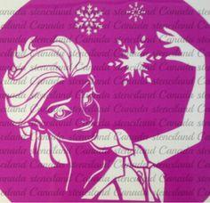 Frozen Halloween pumpkin Stencil from www.etsy.com Canada Stenciland
