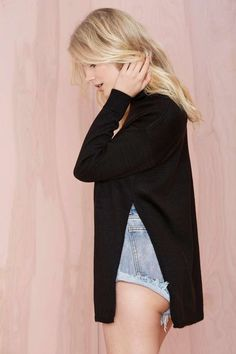 Nasty Gal Slit Second Turtleneck Sweater | Shop Clothes at Nasty Gal!