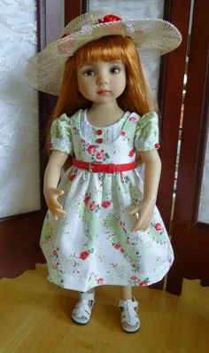 "Sun Dress Outfit Effner 13"" Little Darling Doll by Apple"
