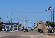 Surfside beach bridge Freeport Texas, Brazoria County, Breaux Bridge, Surfside Beach, Texas Homes, Galveston, Vacation Spots, Wonderful Places, Family Travel