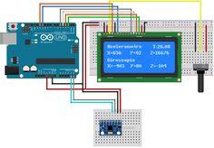 Circuito Arduino e MPU-6050