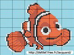 Nemo perler bead pattern