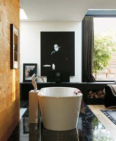 Look We Love: Black Marble in the Bathroom