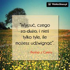 Wyrzuć, czego za dużo... #Arystyp-Z-Cyreny,  #Szczęście, #Życie