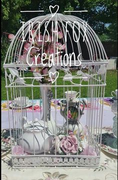 Discounted Bird Cages available for your next wedding, tea party or garden brunch. save up to 50% off original price!!!  Visit Irish Fox Creations to get the details!