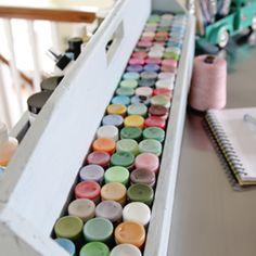 Ikea Hack Craft Table (& Craft Paint Storage!)