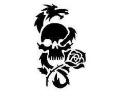 Šablona na tetování - smrtka
