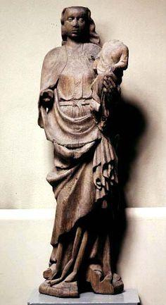 Madonna and the child Hille, region of Gästrikland, Sweden Made in Mälardalen, Sweden, oak.  1350-1400