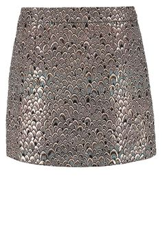 Tramontana - Gold Mini Skirt