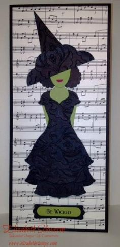 Be Wicked, www.elizabethstamps.com, Wicked musical handmade card